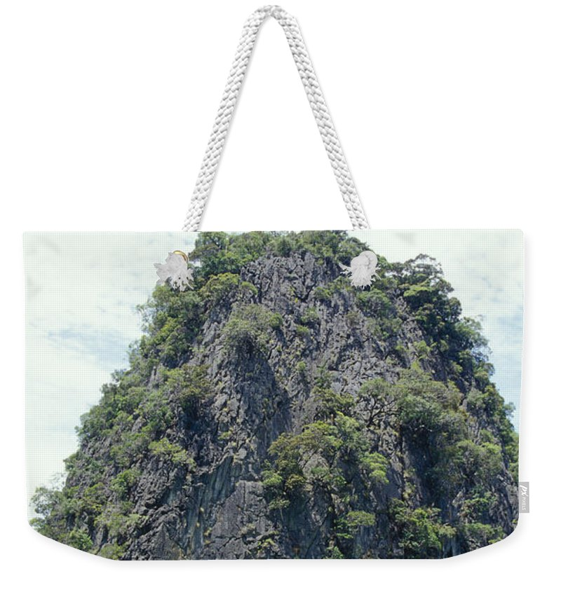 Phang Nga National Park Weekender Tote Bag featuring the photograph Tourists In Canoes Explore Rainforest by Jason Edwards