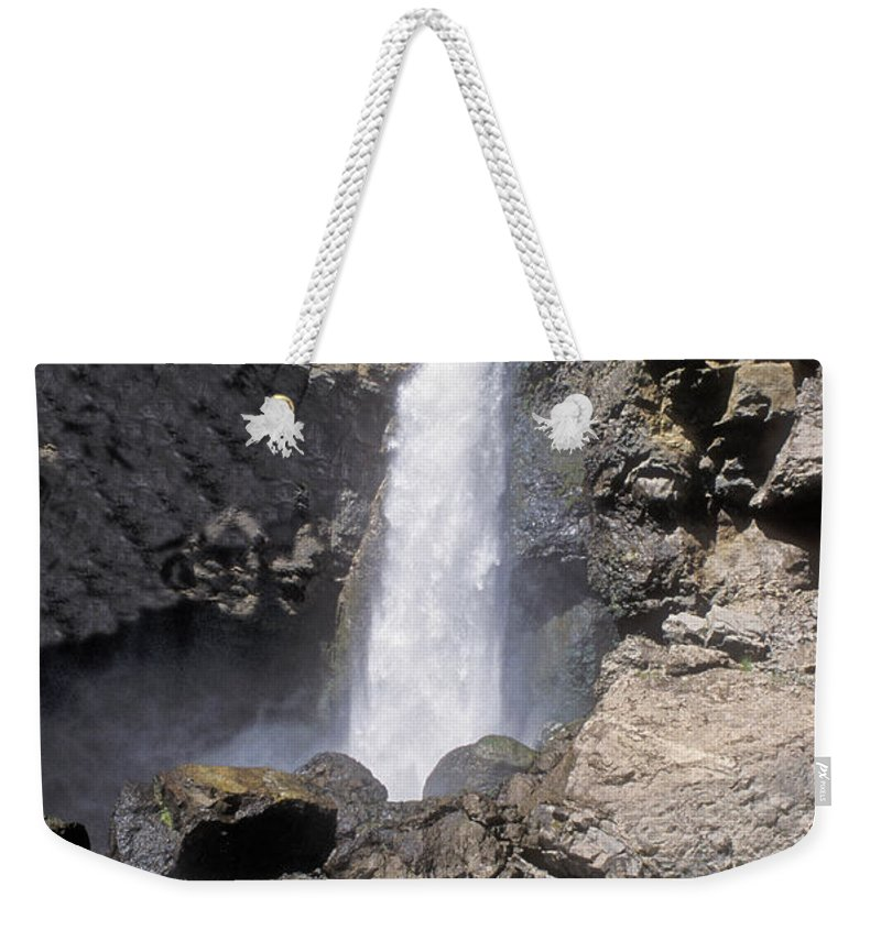 Sandra Bronstein Weekender Tote Bag featuring the photograph Tower Fall Of Yellowstone by Sandra Bronstein