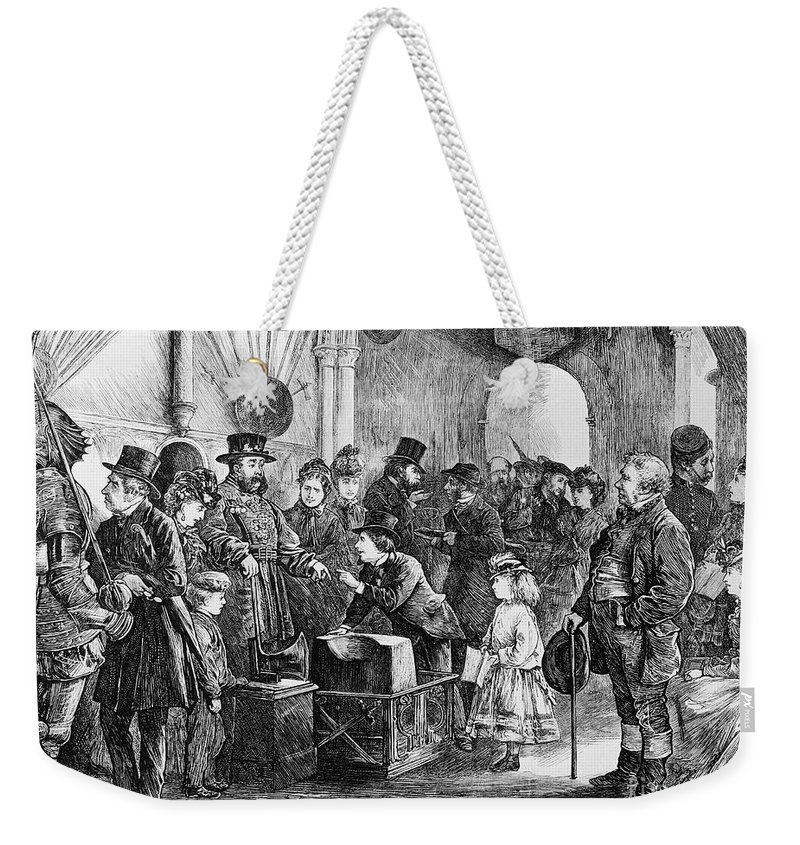 1871 Weekender Tote Bag featuring the photograph Tower Of London: Museum by Granger