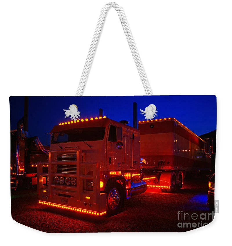 Trucks Weekender Tote Bag featuring the photograph Tr0449-12 by Randy Harris