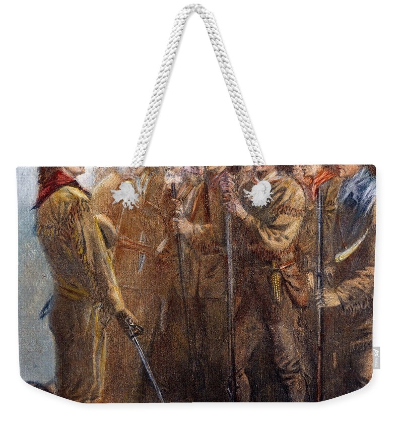 1836 Weekender Tote Bag featuring the photograph Travis: The Alamo, 1836 by Granger