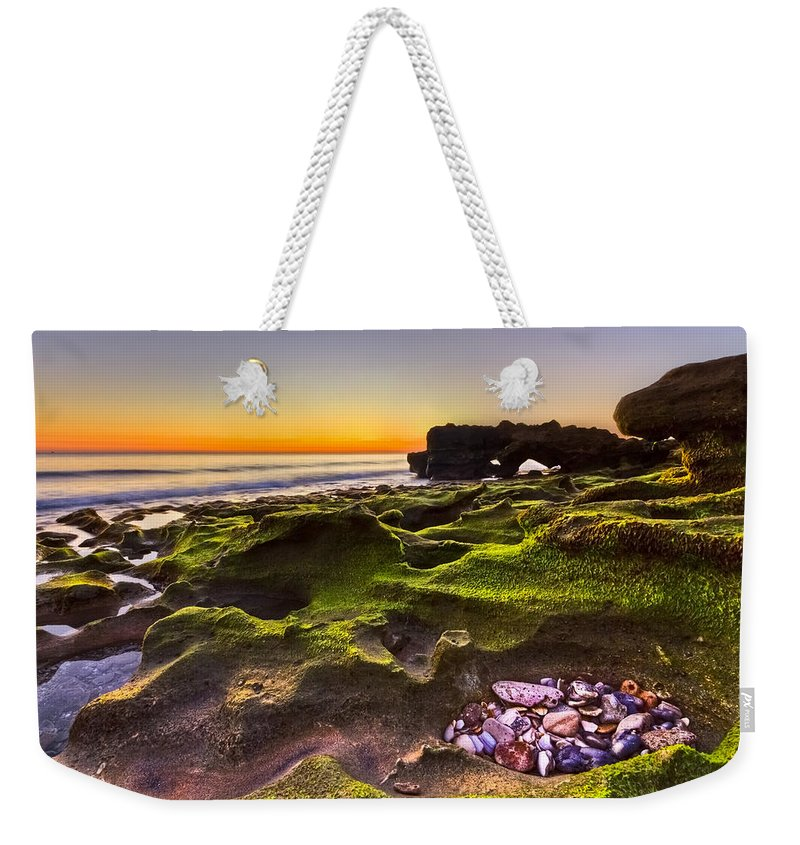 Blowing Rocks Weekender Tote Bag featuring the photograph Treasure Trove by Debra and Dave Vanderlaan