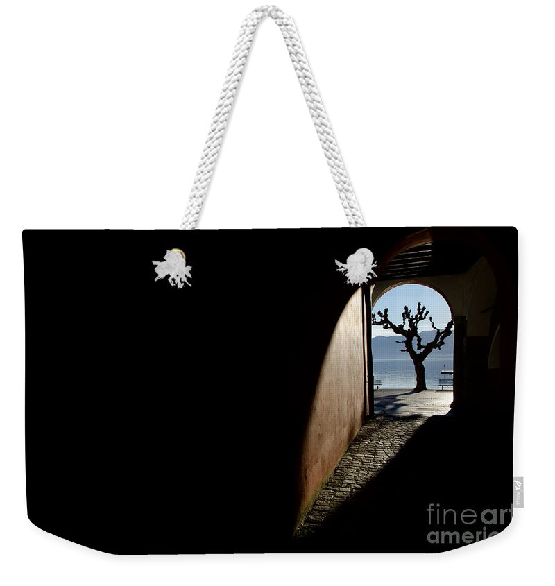 Tree Weekender Tote Bag featuring the photograph Tree And Arch by Mats Silvan