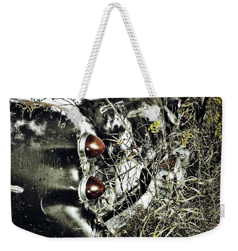 Street Photographer Framed Prints Weekender Tote Bag featuring the photograph Trees And Trunk by The Artist Project
