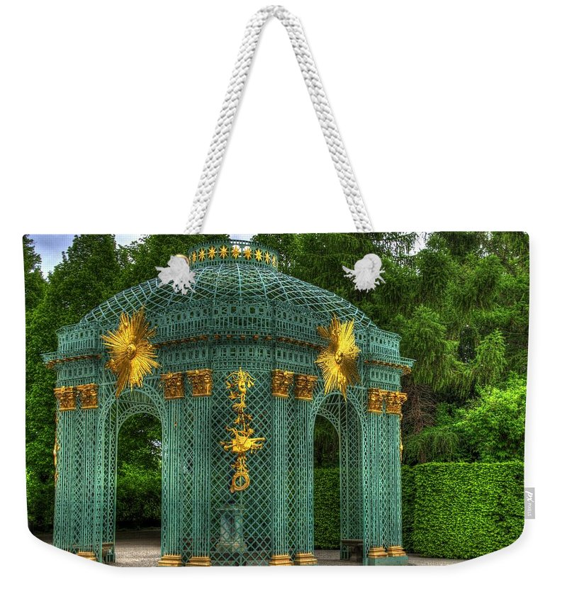 Neuer Garten Weekender Tote Bag featuring the photograph Trellis At Schloss Sanssouci by Jon Berghoff
