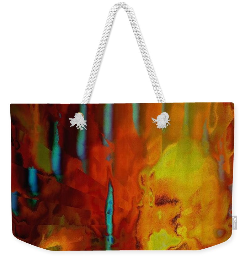 Abstract Weekender Tote Bag featuring the photograph Tribal Tribute by Renate Nadi Wesley