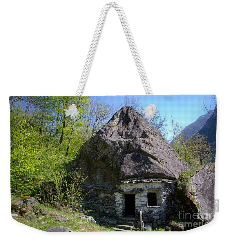 Cheese Weekender Tote Bag featuring the photograph Troll House by Mats Silvan