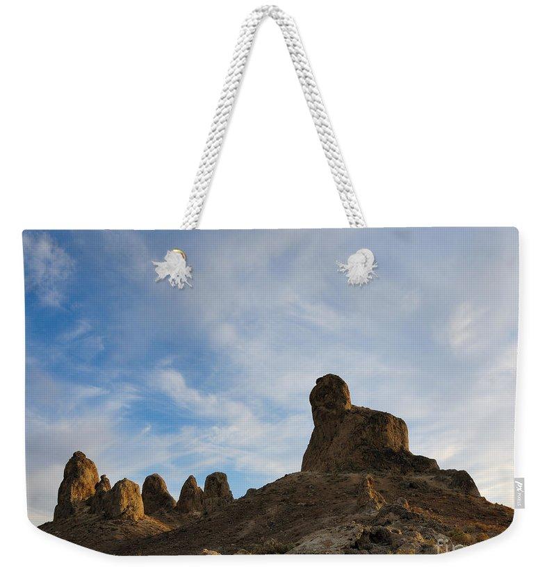 Trona Pinnacles Weekender Tote Bag featuring the photograph Trona Pinnacles 2 by Vivian Christopher