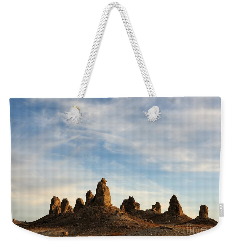 Trona Pinnacles Weekender Tote Bag featuring the photograph Trona Pinnacles 3 by Vivian Christopher