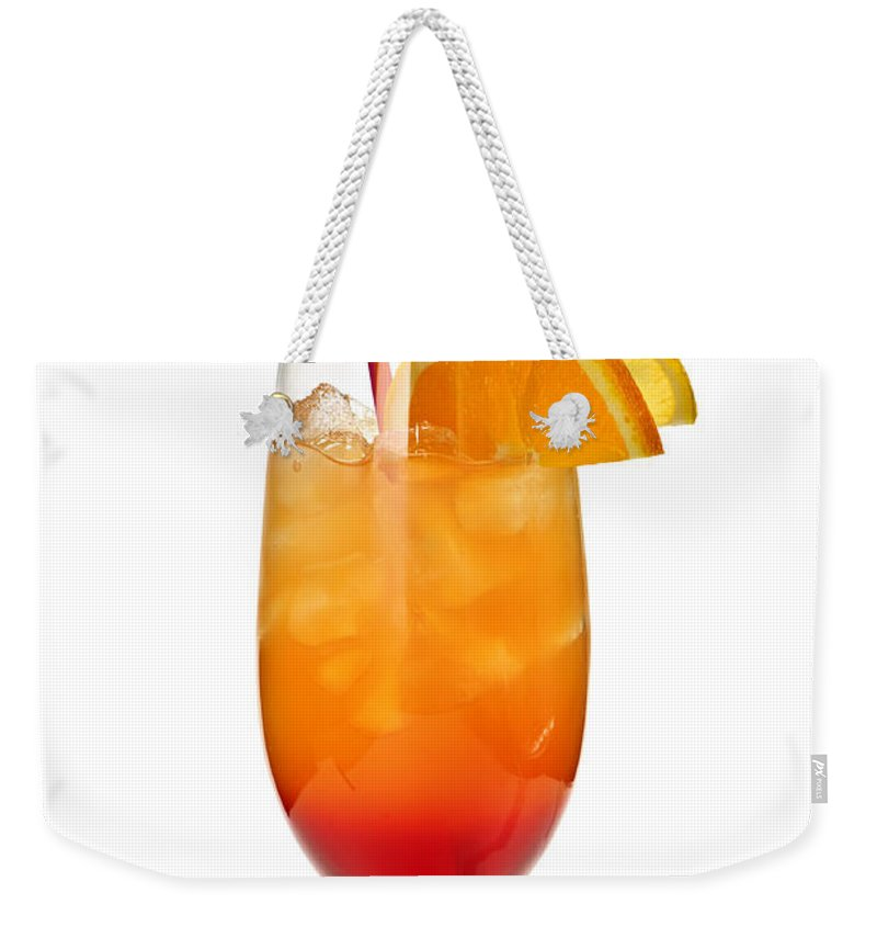 Glass Weekender Tote Bag featuring the photograph Tropical Cocktail by Elena Elisseeva