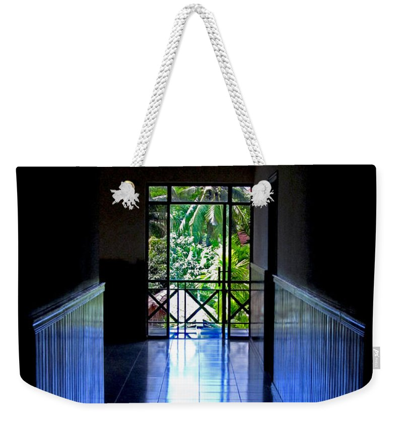 Contrast Weekender Tote Bag featuring the photograph Tropical Lighting by Mark Sellers