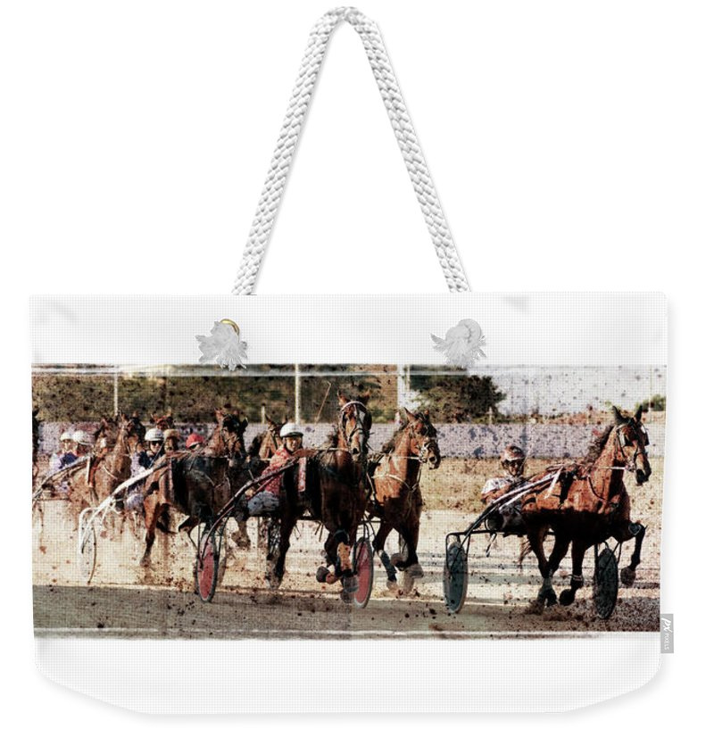 Horse Weekender Tote Bag featuring the photograph Trotting 3 by Pedro Cardona Llambias