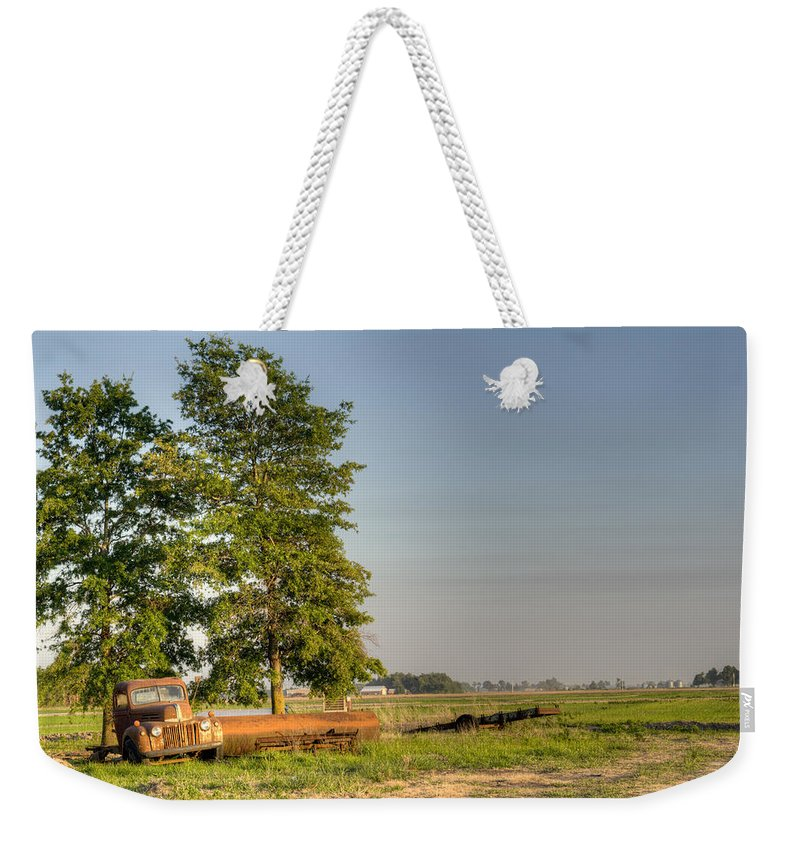 Truck Weekender Tote Bag featuring the photograph Truck And Tank 11 by Douglas Barnett