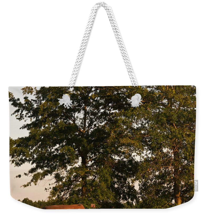 Truck Weekender Tote Bag featuring the photograph Truck And Tank 13 by Douglas Barnett