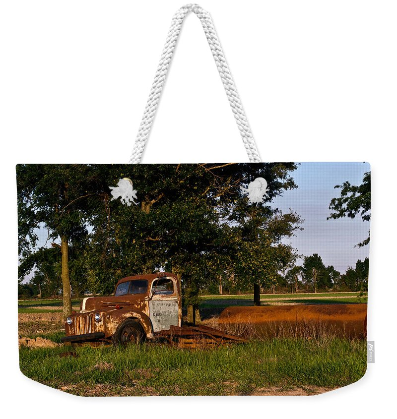 Truck Weekender Tote Bag featuring the photograph Truck And Tank 3 by Douglas Barnett