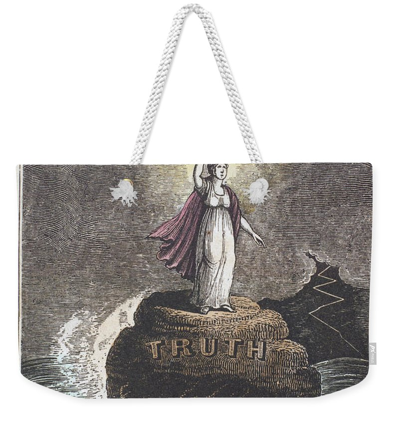 1840 Weekender Tote Bag featuring the photograph Truth by Granger