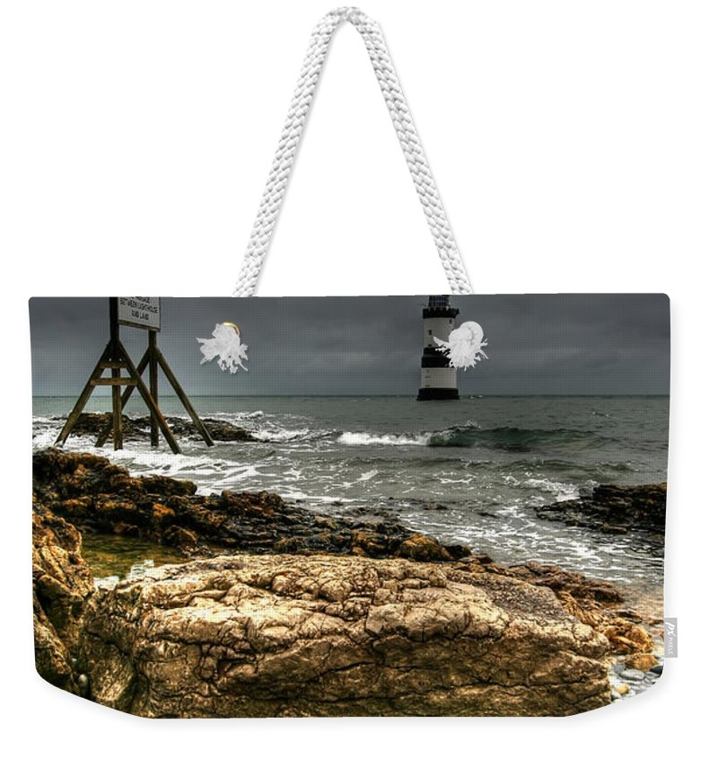1838 Weekender Tote Bag featuring the photograph Trwyn Du Lighthouse by Adrian Evans