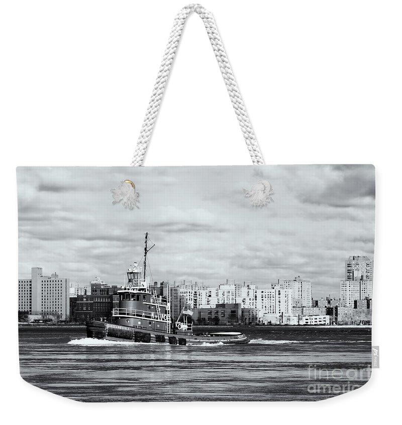 Clarence Holmes Weekender Tote Bag featuring the photograph Tugboat Turecamo Girls II by Clarence Holmes