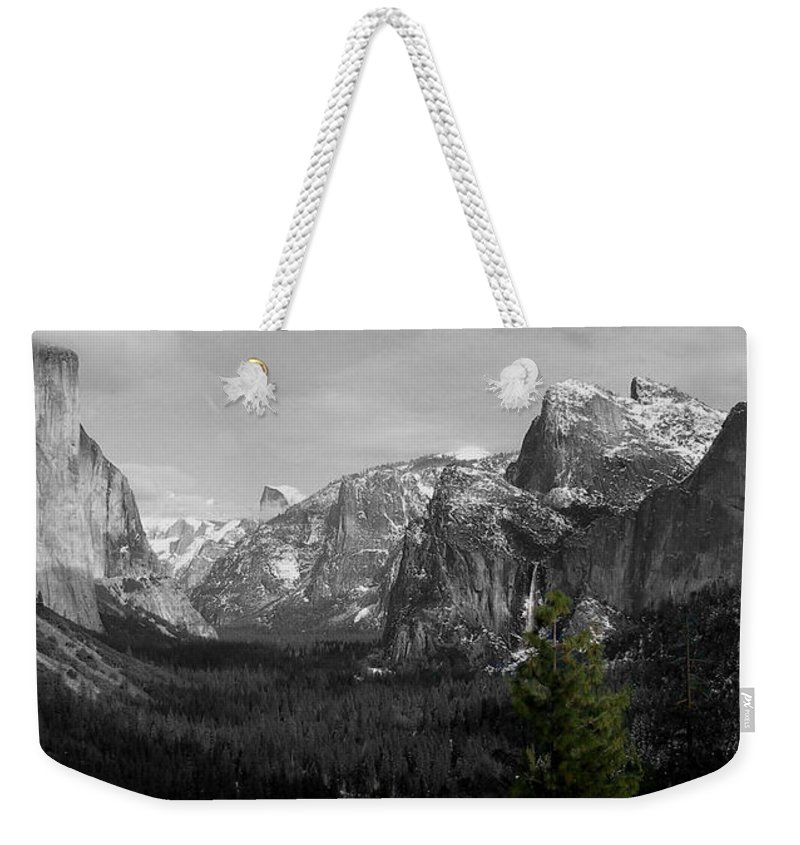 Selective Color Photograph Weekender Tote Bag featuring the photograph Tunnel View Selective Color by Travis Day
