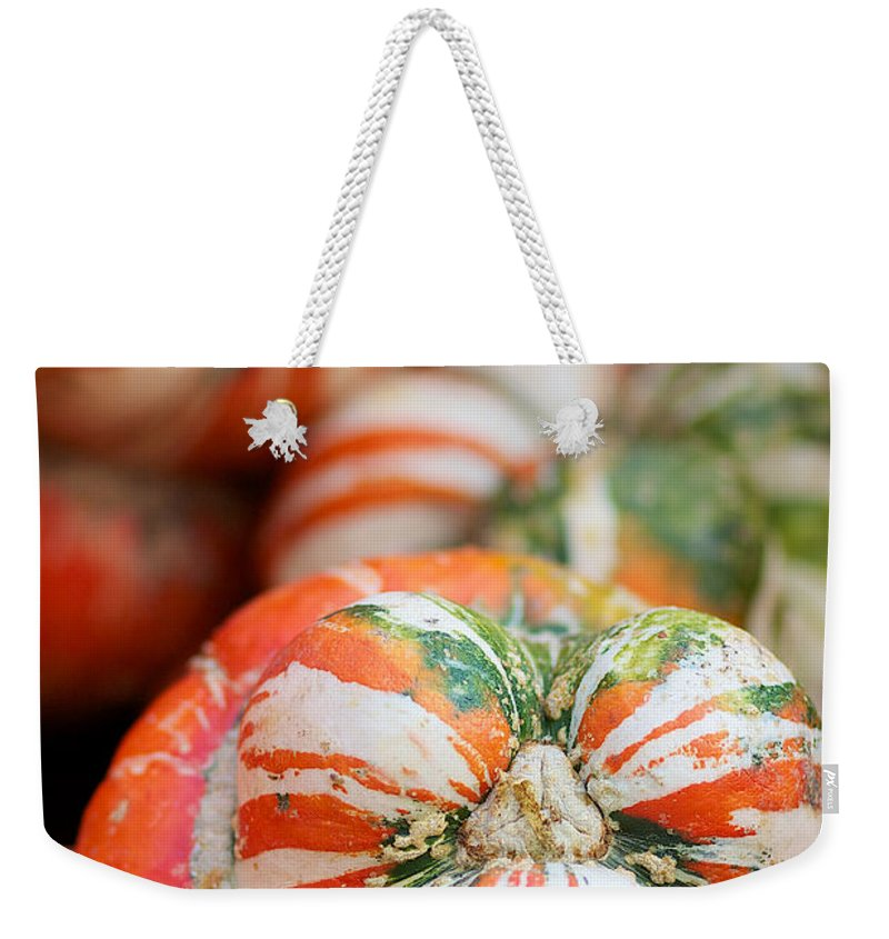 Turbin Squash Weekender Tote Bag featuring the photograph Turban Squash by Brooke Roby