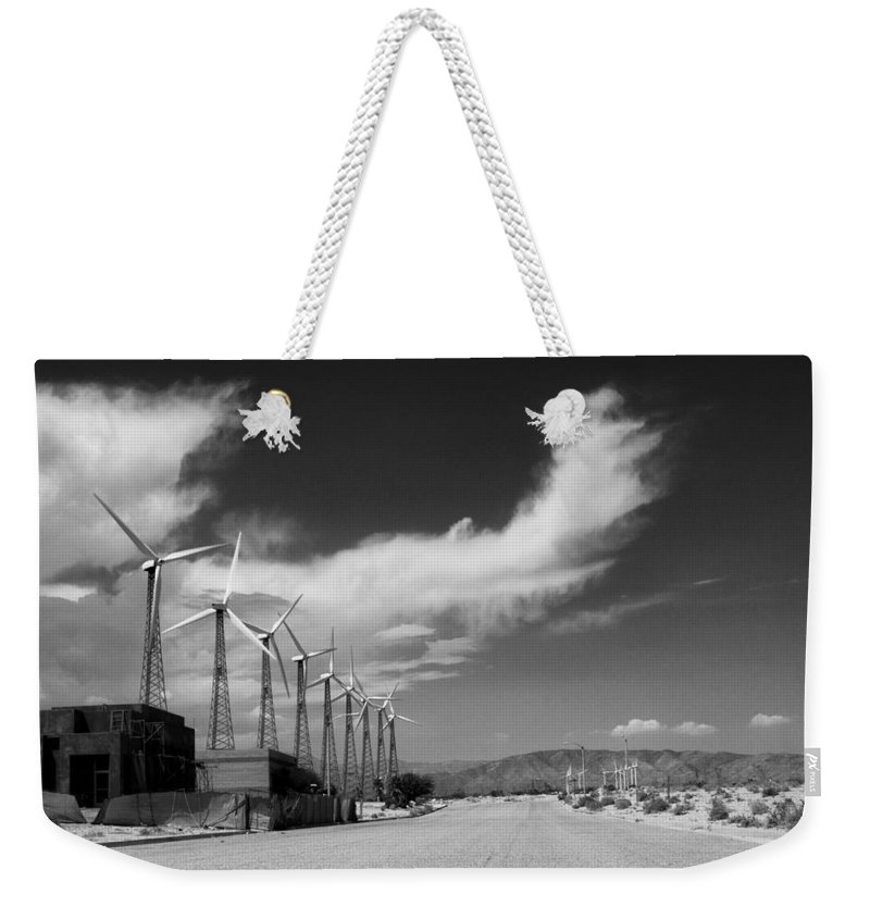 Windmills Weekender Tote Bag featuring the photograph Turbine Town Palm Springs by William Dey