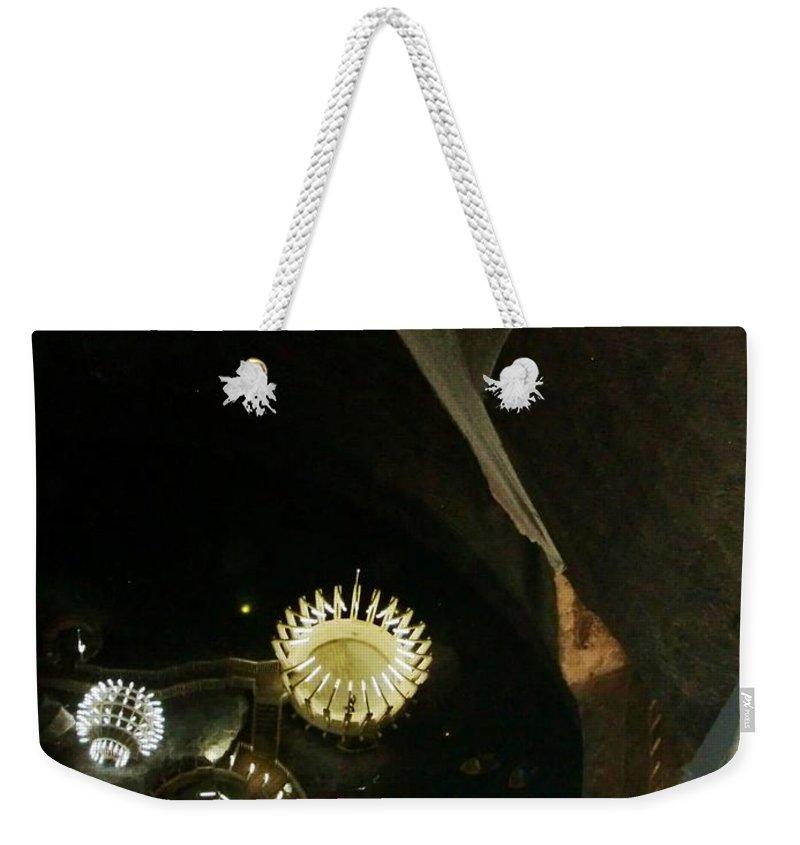 Salt Mine Weekender Tote Bag featuring the photograph Turda Salt Mine by Amalia Suruceanu