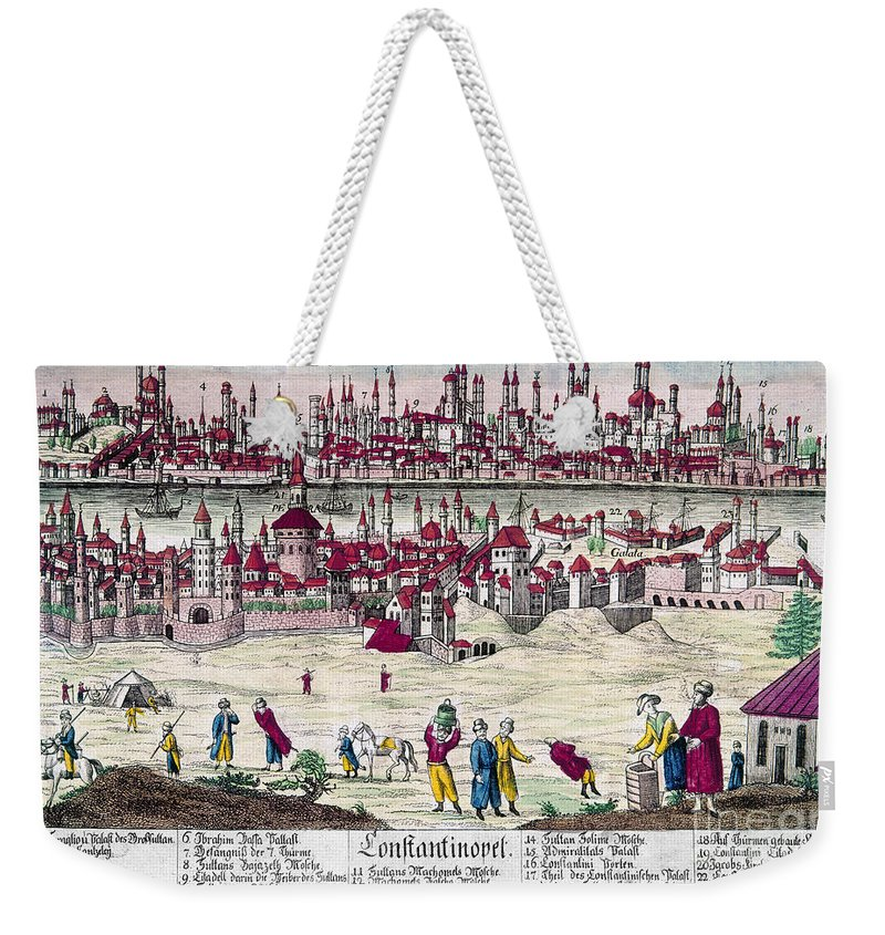 1820s Weekender Tote Bag featuring the photograph Turkey: Istanbul, C1820s by Granger