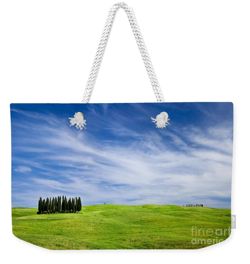 Cypress Weekender Tote Bag featuring the photograph Tuscany Cypress by Brian Jannsen