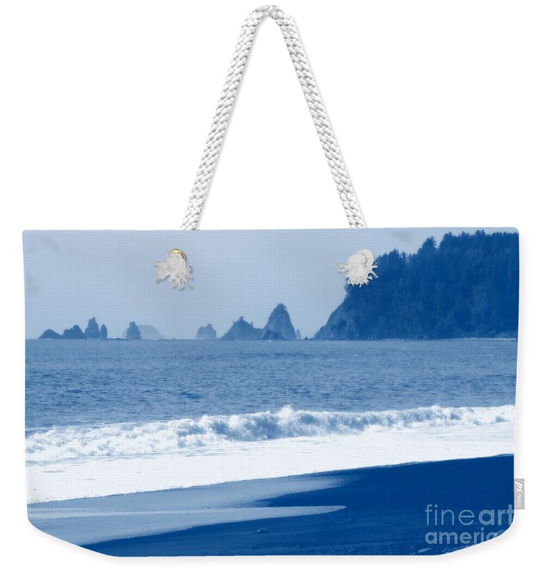Beach Weekender Tote Bag featuring the photograph Twilight Blue by Carol Groenen