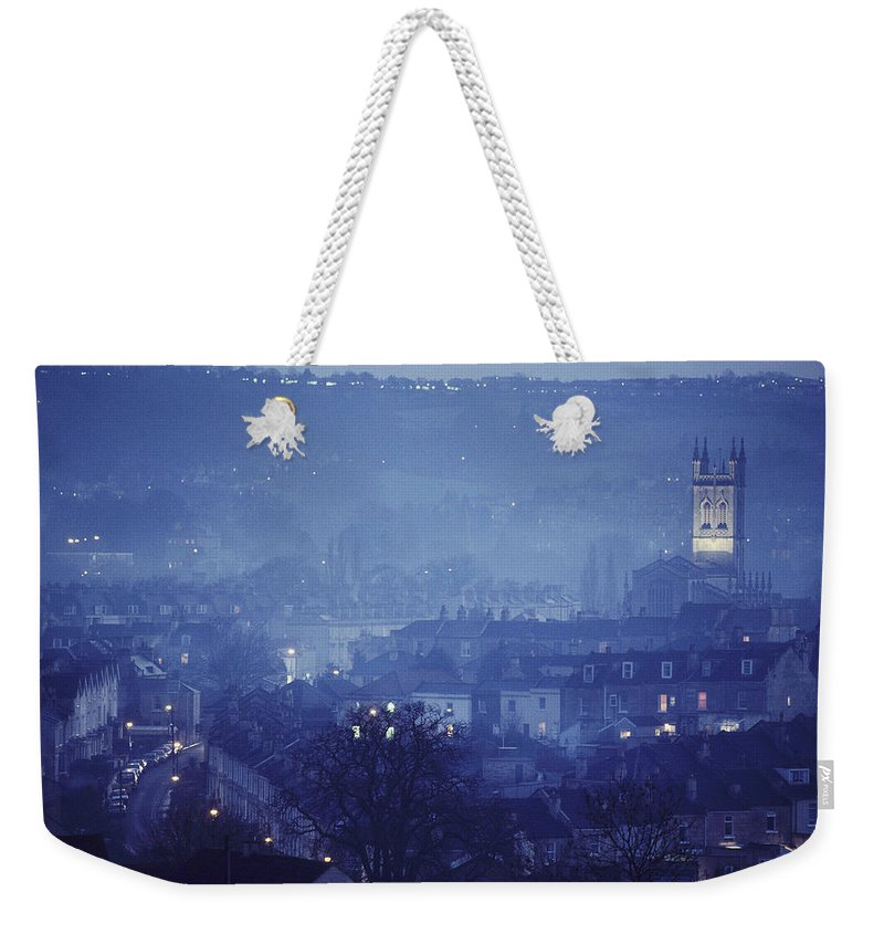 Europe Weekender Tote Bag featuring the photograph Twilight In Bath, England by Skip Brown