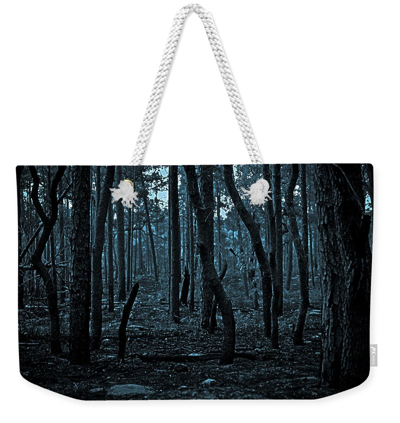 Forest Weekender Tote Bag featuring the photograph Twilight In The Smouldering Forest by DigiArt Diaries by Vicky B Fuller