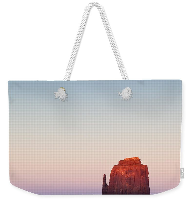 Monument Valley Weekender Tote Bag featuring the photograph Twilight In The Valley by Dave Bowman