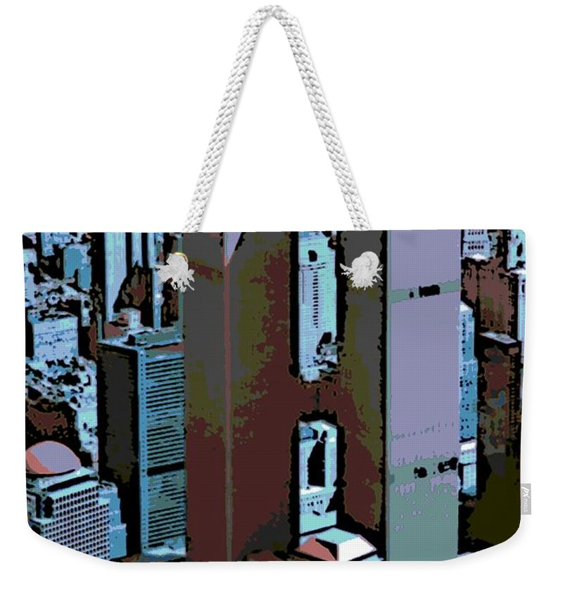 Twin Towers Weekender Tote Bag featuring the photograph Twin Towers by George Pedro