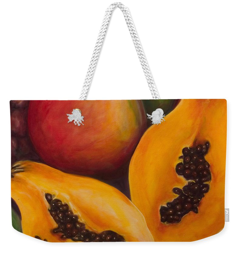 Twins Weekender Tote Bag featuring the painting Twins Crop by Shannon Grissom