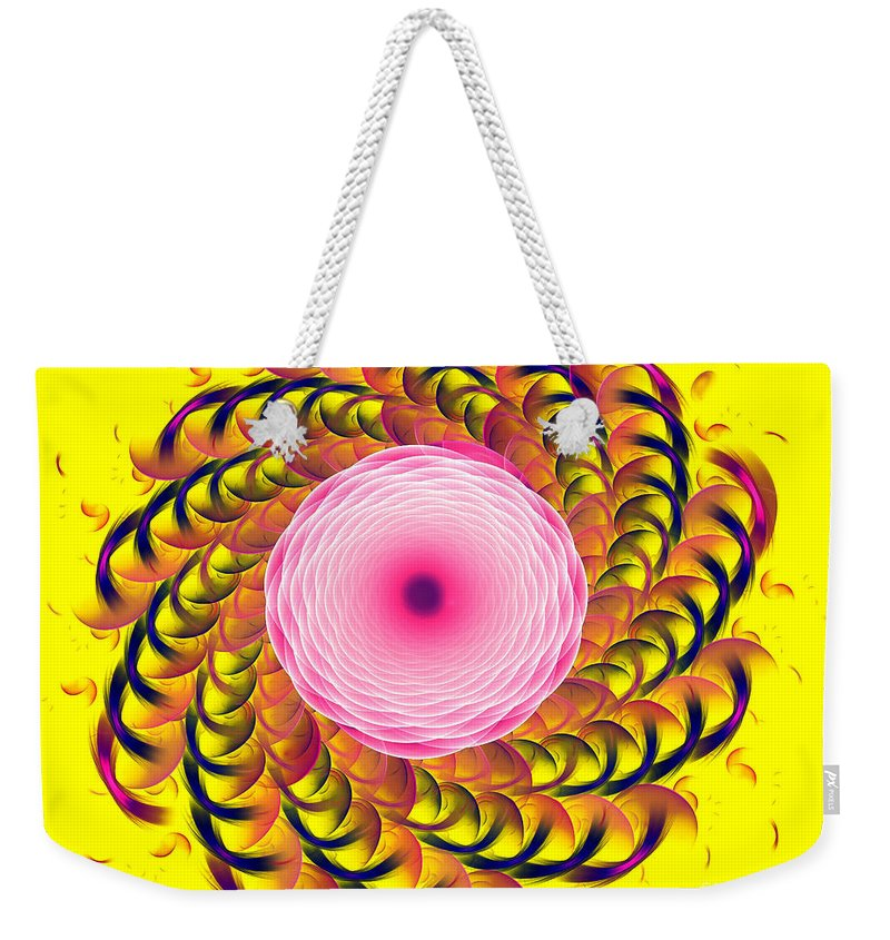 Fractal Weekender Tote Bag featuring the digital art Twirl by Richard Ortolano