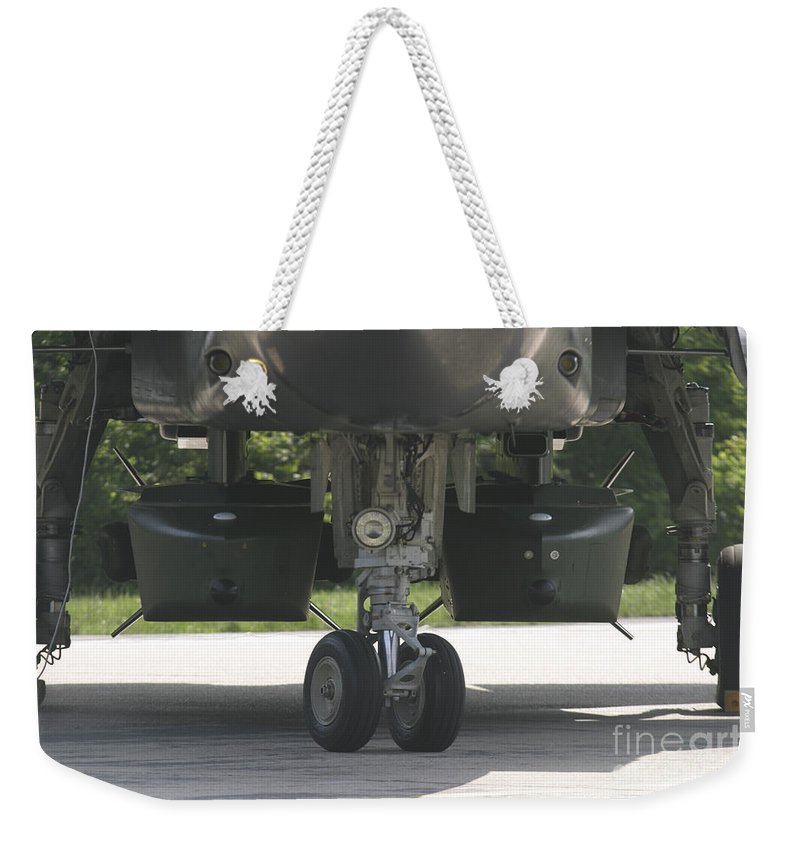 Horizontal Weekender Tote Bag featuring the photograph Two Taurus Cruise Missiles On A Tornado by Timm Ziegenthaler