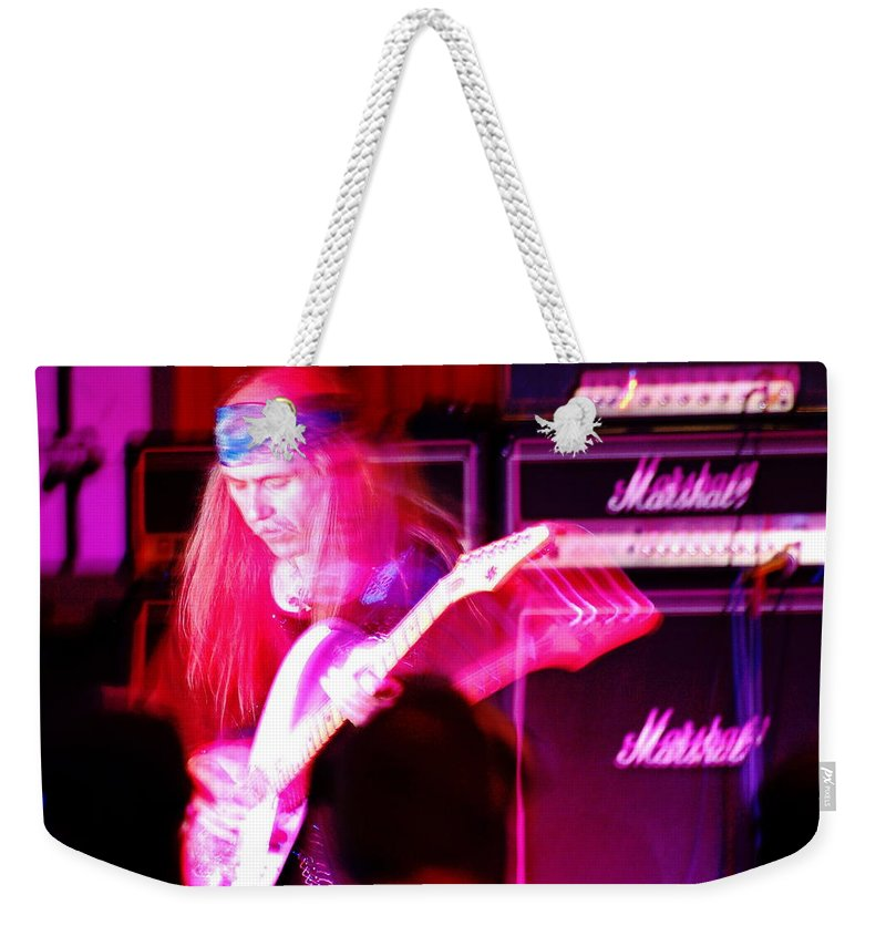 Uli Jon Roth Weekender Tote Bag featuring the photograph Ulrich Roth 2008 by Ben Upham