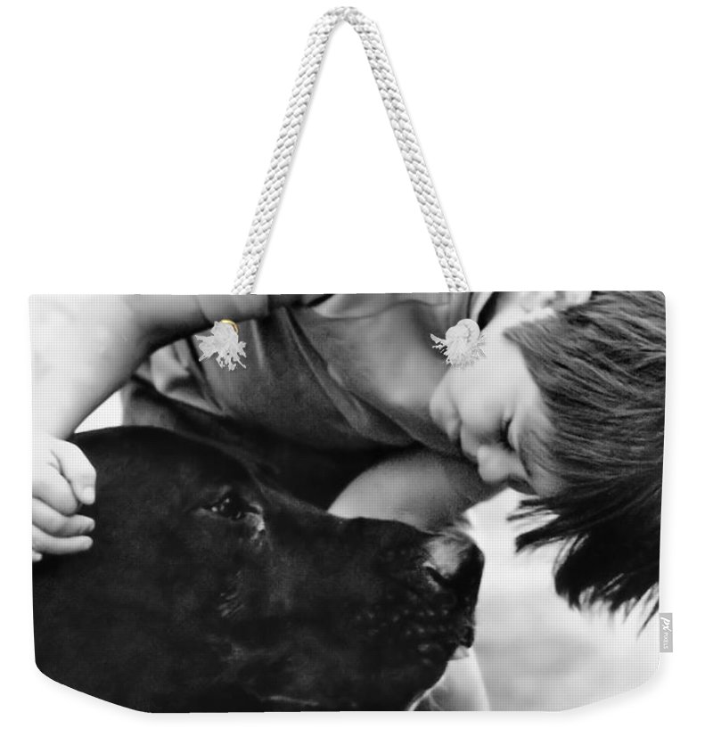 Dog Weekender Tote Bag featuring the photograph Unconditional Love by Rory Sagner