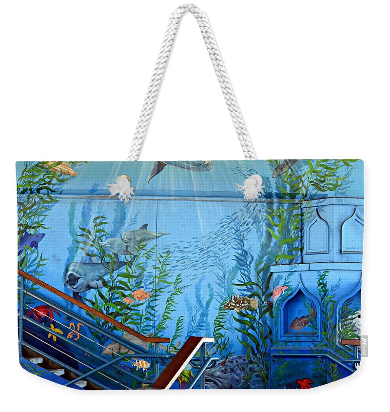 Underwater Mural Weekender Tote Bag featuring the photograph Under The Sea by Fraida Gutovich