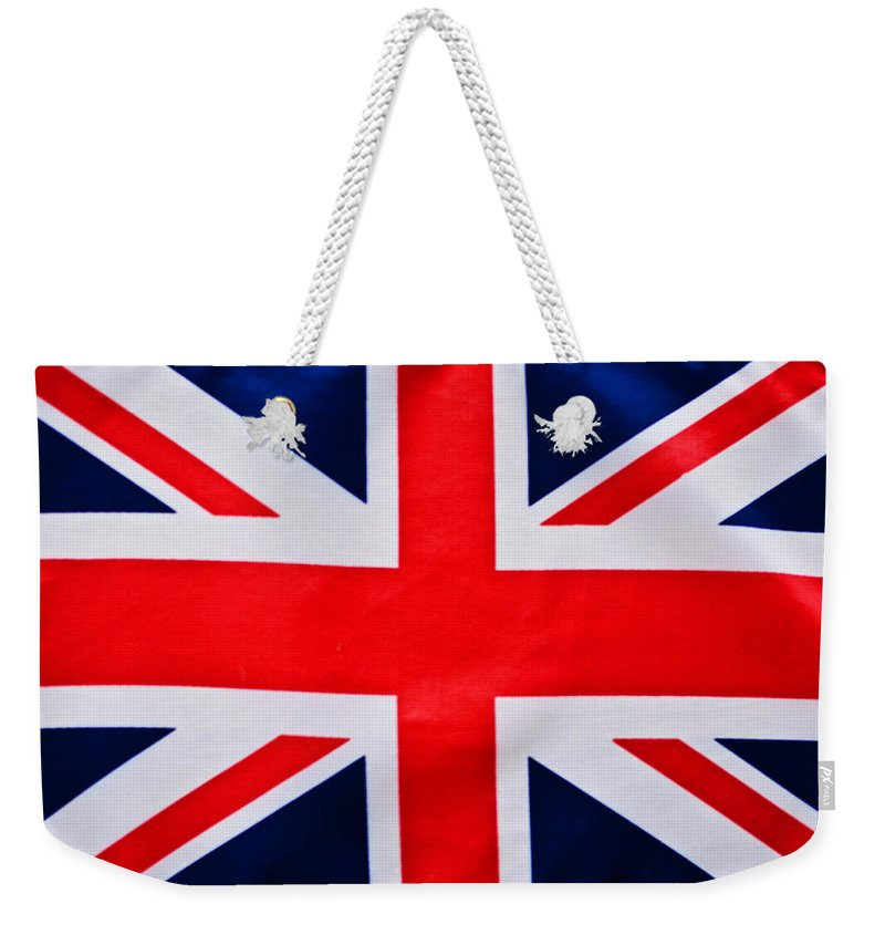 Union Jack Flag Weekender Tote Bag featuring the photograph Union Flag by Steve Purnell