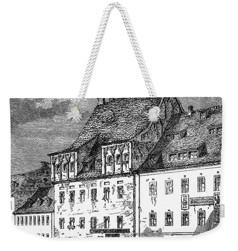 19th Century Weekender Tote Bag featuring the photograph University Of Leipzig by Granger