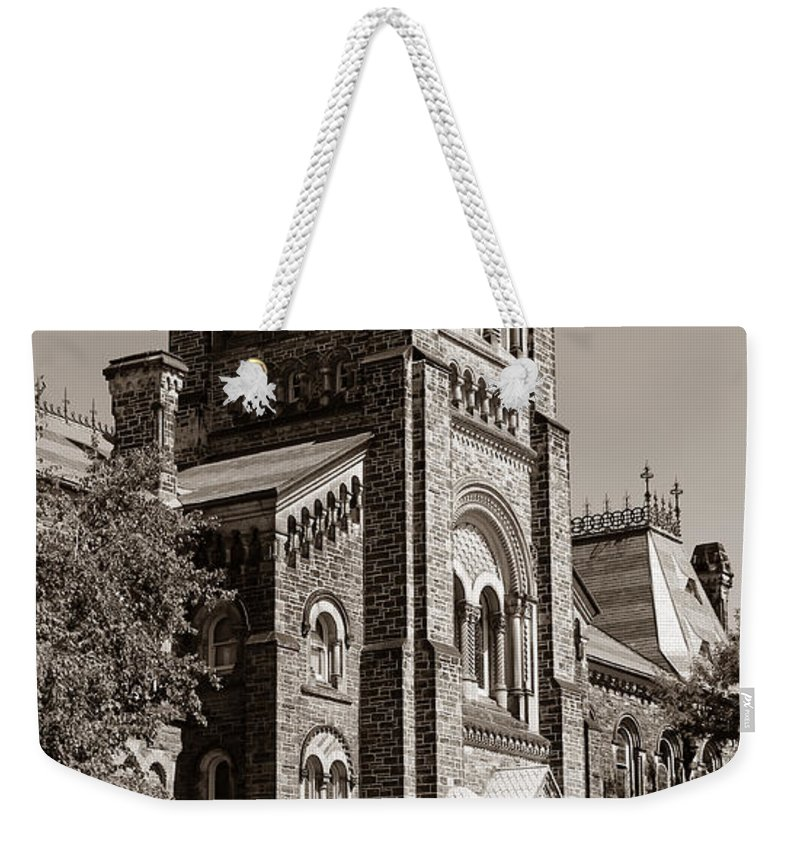 Toronto Weekender Tote Bag featuring the photograph University Of Toronto 2 by Andrew Fare