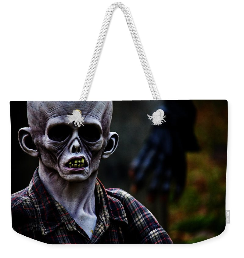 Horror Weekender Tote Bag featuring the photograph Unknown by Karol Livote