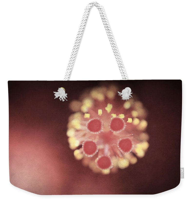 Flower Weekender Tote Bag featuring the photograph Untitled by Laurie Search