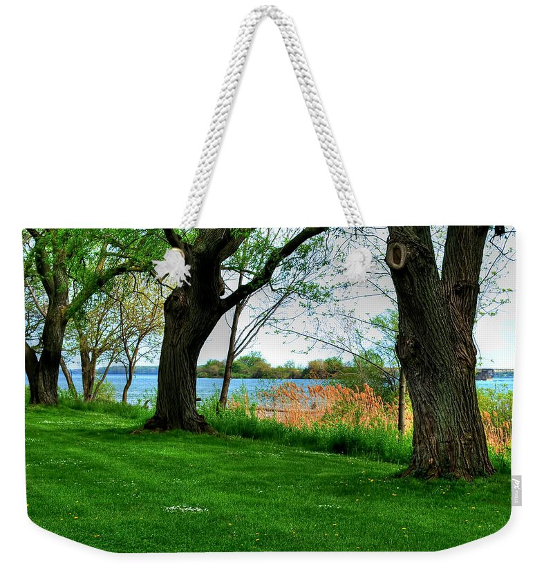 Weekender Tote Bag featuring the photograph Untitled No Need by Michael Frank Jr