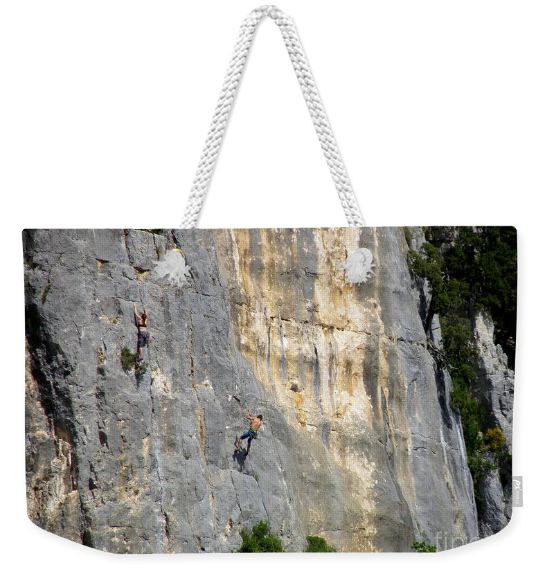 Mountain Climbing Weekender Tote Bag featuring the photograph Up And Down by Lainie Wrightson