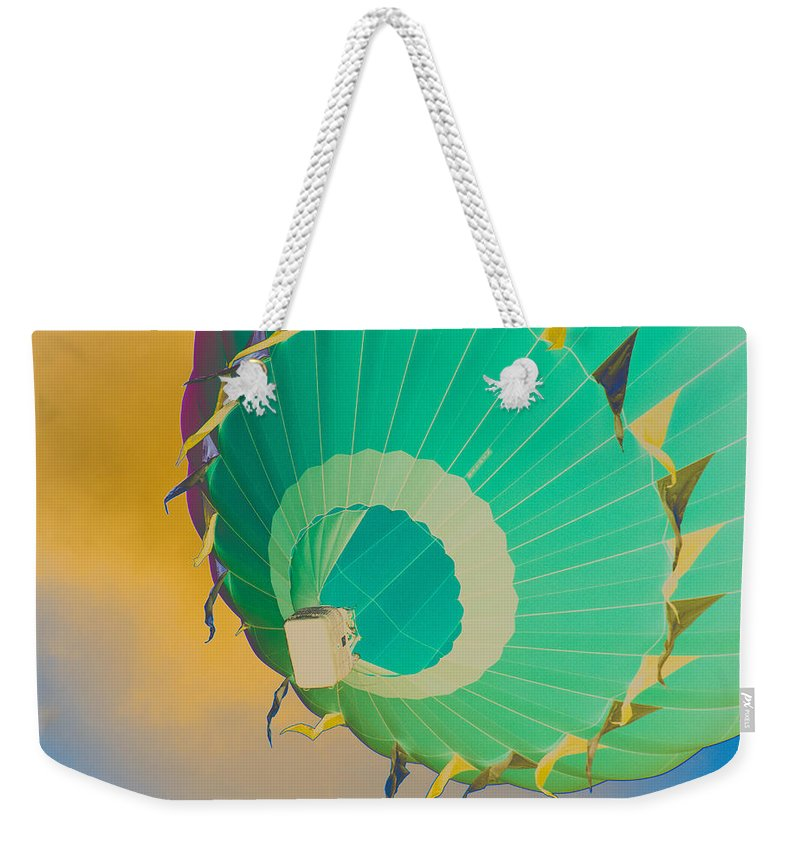 Sky Weekender Tote Bag featuring the photograph Up Up And Away by Trish Tritz