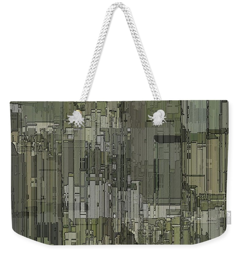 Abstract Weekender Tote Bag featuring the digital art Urban Core 2 by Tim Allen