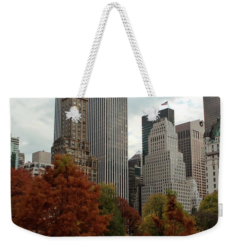 New York City Weekender Tote Bag featuring the photograph Urban Sprouting From Rural by Lorraine Devon Wilke