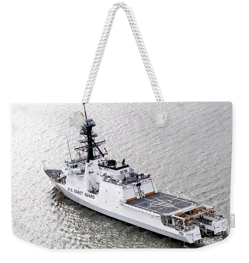 Coast Guard Weekender Tote Bag featuring the photograph U.s. Coast Guard Cutter Stratton by Stocktrek Images
